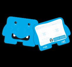 Ficha de Raio-X Dental Friends - Cor: Azul